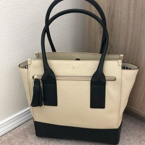 Kate Spade Linda shoulder bag, cream, black, white
